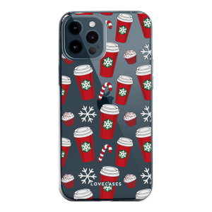 Add some Christmas cheer to your iPhone 12 Pro with this festive red cups design from LoveCases. Cute and protective, this ultra-thin clear case provides the perfect fit, grip and durable protection from drops, bumps and scratches.