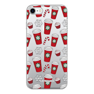 Add some Christmas cheer to your iPhone 8 with this red cups design from LoveCases. Cute and protective, this ultra-thin clear case provides the perfect fit, grip and durable protection from drops, bumps and scratches.