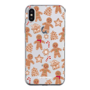 LoveCases iPhone X Gel Case - Christmas Gingerbread
