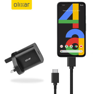Olixar Google Pixel 4a 18W USB-C Fast Mains Charger & 1.5m Cable