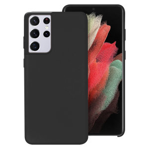 Custom moulded for the Samsung Galaxy S21 Ultra, this black soft silicone case from Olixar provides excellent protection against lifes little accidents, as well as a slimline fit for added convenience.