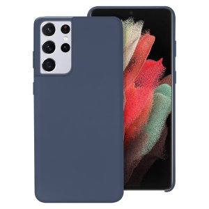Custom moulded for the Samsung Galaxy S21 Ultra, this midnight blue soft silicone case from Olixar provides excellent protection against damage as well as a slimline fit for added convenience.