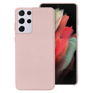 Custom moulded for the Samsung Galaxy S21 Ultra, this pastel pink soft silicone case from Olixar provides excellent protection against damage as well as a slimline fit for added convenience.
