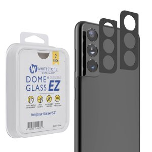Never worry about dust or finger prints on your Galaxy S21's camera again with this Whitestone EZ Glass Camera Protector, 2 pack. Easily attach the protector to protect your camera from scratches and bumps, helping to provide 100% vivid clarity.