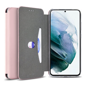Custom moulded for the Samsung Galaxy S21 Plus, this Olixar Pink Silicone Flip Case provides excellent protection against damage as well as a slimline fit. Additionally, this case transforms into a stand to view media and includes a card slot!