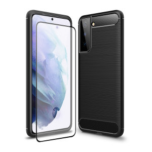 Don't compromise on your Samsung Galaxy S21's safety with this black, rugged case from Olixar. The case looks good, offers 360 degree protection and even comes with a tempered glass screen protector. Feel safe with Olixar.