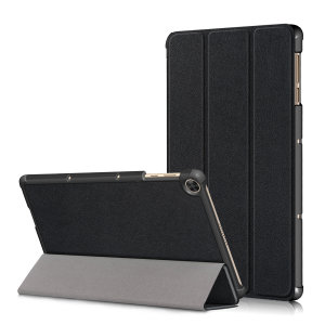This stylish black leather style folio case from Olixar will protect your Amazon Fire HD 10 2019 from all kinds of knocks. Featuring a smart sleep / wake functionality with a viewing stand enabling you to watch your media.