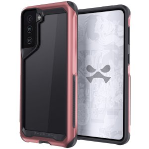 Equip your Samsung Galaxy S21 Plus with the most extreme and durable protection around! The Pink Aluminium Atomic Slim 3 Case from Ghostek provides rugged drop, bump and scratch protection whilst keeping the phone looking slim and stylish.