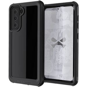 Shield your Samsung Galaxy S21 Plus on land and at sea with the extremely tough, yet incredibly stylish, black Nautical 3 Waterproof case from Ghostek. Protecting your Galaxy S21 Plus from depths of up to 1 meter for up to 30 minutes.