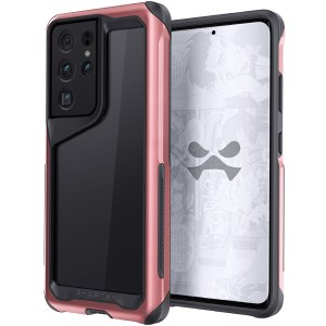 Equip your Samsung Galaxy S21 Ultra with the most extreme and durable protection around! The Pink Aluminium Atomic Slim 3 Case from Ghostek provides rugged drop, bump and scratch protection whilst keeping the phone looking slim and stylish.