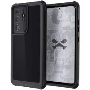 Shield your Samsung Galaxy S21 Ultra on land and at sea with the extremely tough, yet incredibly stylish, black Nautical 3 Waterproof case from Ghostek. Protecting your Galaxy S21 Ultra from depths of up to 1 meter for up to 30 minutes.