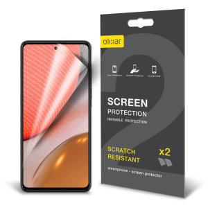 Olixar Samsung Galaxy A72 Film Screen Protector 2-in-1 Pack