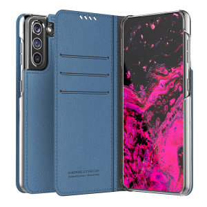The Araree Mustang Diary Case in Ash blue combines synthetic leather, premium feel and lightweight design to provide all round protection for your Samsung Galaxy S21. With 3 Card slots & 2 pockets for cash/notes this is the perfect everyday case.