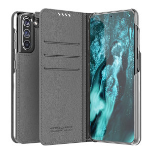 The Araree Mustang Diary Case in Gray combines synthetic leather, premium feel and lightweight design to provide all round protection for your Samsung Galaxy S21 Plus. With 3 Card slots & 2 pockets for cash/notes this is the perfect everyday case.