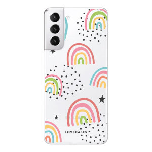 LoveCases Samsung Galaxy S21 Plus Gel Case - Abstract Rainbow