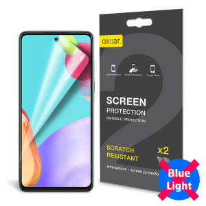 Olixar Samsung A52 Anti-Blue Light Film Screen Protector - 2 Pack
