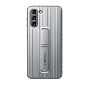 This Official Samsung Protective cover in Grey is the perfect accessory for your Samsung Galaxy S21 smartphone. Looks stylish, offers ultimate protection and built with a kickstand to make viewing your favourite shows a lot more convenient.