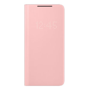 Official Samsung Galaxy S21 Plus LED View Cover Case - Pink