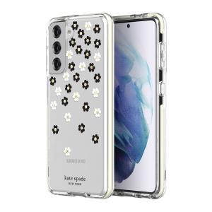 The Kate Spade New York Samsung Galaxy S21 Scattered Flowers case is perfect for adding that extra bit of style to your day. It provides a beautiful aesthetic, as well as providing excellent shock absorption and scratch resistance.