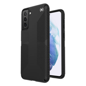 Gain premium protection against drops and scratches with this stunning Presidio2 Black Case for your Galaxy S21 Plus from Speck. This case is lightweight and slim making it convenient, as well as sophisticated with easy grip, avoiding any unwanted slips.