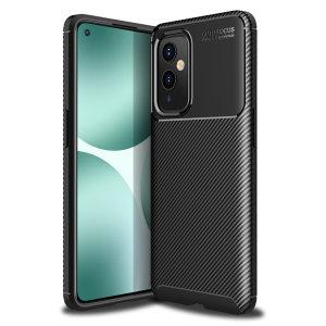 Olixar Carbon Fibre OnePlus 9 Protective Case - Black
