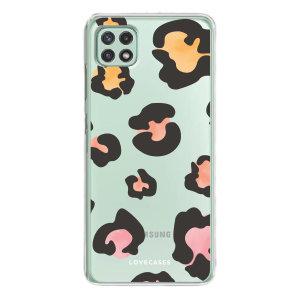 LoveCases Samsung Galaxy A22 5G Gel Case - Colourful Leopard