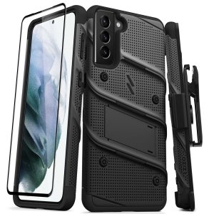 Equip your Samsung Galaxy S21 Plus with military grade protection and superb functionality with the ultra-rugged Bolt case & screen 