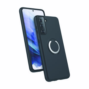 The Zizo revolve case in black brings style and function together into a ultra-slim design whilst fully protecting your Samsung Galaxy S21 Plus from scrapes & bumps. The ring at the back doubles as a kickstand to watch your favourite series conveniently!