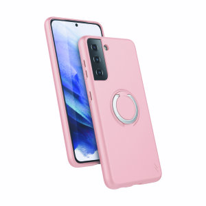 The Zizo revolve case in Rose Quartz brings style & function together into a slim design whilst fully protecting your Samsung Galaxy S21 Plus from scrapes & bumps. The ring at the back doubles as a kickstand to watch your favourite series conveniently!