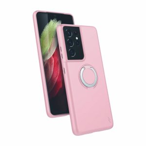 The Zizo revolve case in rose quartz brings style & function together into a slim design whilst fully protecting your Samsung Galaxy S21 Ultra from scrapes & bumps. The ring at the back doubles as a kickstand to watch your favourite series conveniently!