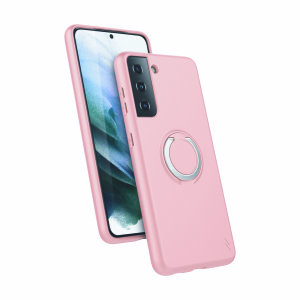 Zizo Revolve Series Samsung Galaxy S21 Thin Ring Case - Rose Quartz