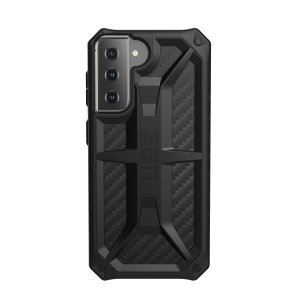 The Urban Armour Gear Monarch in carbon fibre for the Samsung Galaxy S21 is quite possibly the king of protective cases. With 5 layers of premium protection and the finest materials, your phone is safe, secure and in some style too.