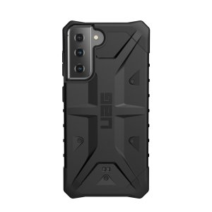 The Urban Armour Gear Pathfinder black rugged case for the Samsung Galaxy S21 features a classic tough-looking, composite design with a soft impact-absorbing core and hard exterior that provides superb protection in all situations.
