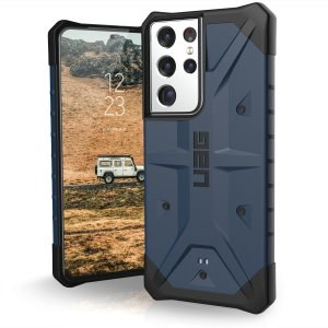 The sleek, Urban Armour Gear [UAG] Pathfinder Mallard rugged case for the Samsung Galaxy S21 Ultra features a classic tough-looking, composite design with a soft impact-absorbing core and hard exterior that provides superb protection in all situations.
