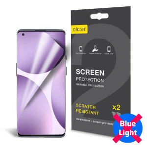Olixar OnePlus 9 Pro Anti-Blue Light Film Screen Protector 2-in-1 Pack