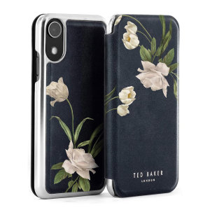 Ted Baker Elderflower iPhone XR Folio Case - Black / Silver