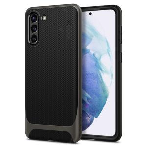 The Spigen Neo Hybrid in gunmetal colour is the new leader in lightweight protective cases. Spigen's new Air Cushion Technology reduces the thickness of the case while providing optimal corner protection for your Samsung Galaxy S21 5G.