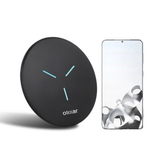 Olixar Samsung Galaxy S21 Plus 10W Fast Wireless Charging Pad - Black