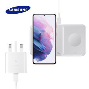 With 9W Fast Charging support, power up your Galaxy S21 and other devices simultaneously with the Galaxy Duo 2 Pad in white. Its lightweight design and compact dimensions make it easy to carry and will decorate any desk at home or in the office.