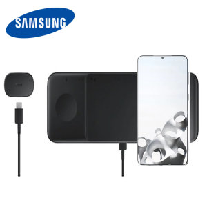 This Official Galaxy S21 Plus Wireless Charger looks great, has fast charging capability and uniquely, has room to hold 3 devices at once! Whether it's your phone, smartwatch or earbuds, this charger can charge them quickly, effectively and safely!