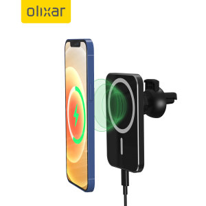 Olixar MagSafe Compatible Wireless Charger & Car Holder - Black