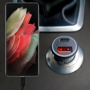 Keep your Galaxy S21 Ultra fully charged on the road with this Olixar fast charging 36W PD & QC dual USB Car Charger with an included 100W braided 1.5m USB to USB-C Black charging cable. Charge safely on your journey, effectively & quickly with Olixar.
