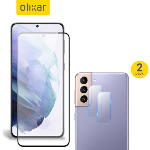 Featuring a high quality, 100% clear Tempered Glass screen protector & a 2 pack of ultra-thin camera protectors from Olixar you can feel secure in the knowledge that your Samsung Galaxy S21's screen & camera lenses are protected from scrapes & drops!