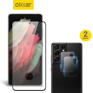 Featuring a high quality, 100% clear Tempered Glass screen protector & a 2 pack of ultra-thin camera protectors from Olixar you can feel secure in the knowledge that your Samsung Galaxy S21 Ultra's screen & camera lenses are protected from scrapes & drops