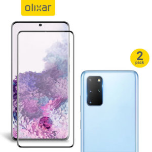 Featuring a high quality, 100% clear Tempered Glass screen protector & a 2 pack of ultra-thin camera protectors from Olixar you can feel secure in the knowledge that your Samsung Galaxy S20 Plus' screen & camera lenses are protected from scrapes & drops!