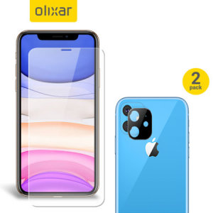 Featuring a high quality, 100% clear Tempered Glass screen protector & a 2 pack of ultra-thin camera protectors from Olixar you can feel secure in the knowledge that your iPhone 11's screen & camera lenses are protected from scrapes & drops