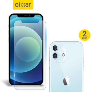 Olixar iPhone 12 Screen Protector & 2 Pack Camera Protectors