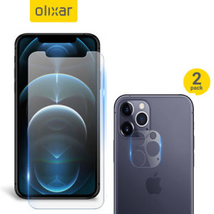 Featuring a high quality, 100% clear Tempered Glass screen protector & a 2 pack of ultra-thin camera protectors from Olixar you can feel secure in the knowledge that your iPhone 12 Pro Max's screen & camera lenses are protected from scrapes & drops