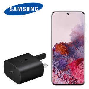 An Official Samsung UK Power Delivery fast mains charger for your Samsung Galaxy S20 device. With a power output of 25W, you'll have battery within minutes. This is the exact charger that comes with these phones, providing 100% safe & effective charging.