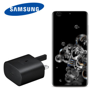Official Samsung Galaxy S20 Ultra 25W PD USB-C UK Wall Charger - Black